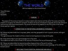The World (With an emphasis on the United States) Lesson Plan