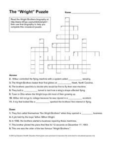 "The ""Wright"" Puzzle Worksheet"