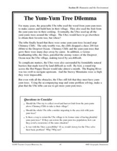 The Yum -Yum Tree Dilemma Worksheet