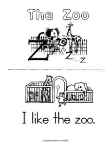 The Zoo Book Lesson Plan