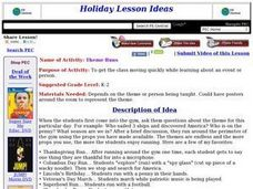 Theme Runs Lesson Plan