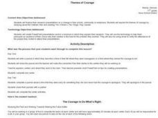 Themes of Courage Lesson Plan