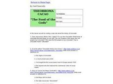 "Theobroma Cacao ""The Food of the Gods"" Lesson Plan"