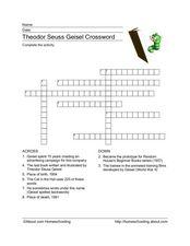 Theodor Seuss Geisel crossword