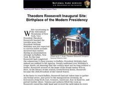Theodore Roosevelt Inaugural Site: Birthplace of the Modern Presidency Lesson Plan