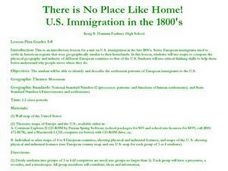 There Is No Place Like Home!  U. S. Immigration in the 1800's. Lesson Plan