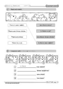 There Is, There Are Questions Worksheet