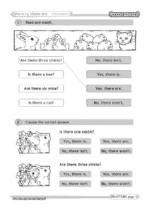 There Is, There Are: Short Answers Worksheet
