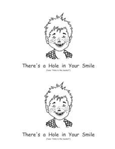 There's a Hole in Your Smile Booklet Worksheet