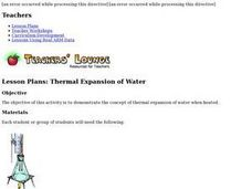 Thermal Expansion of Water: Rise of Sea Level Lesson Plan