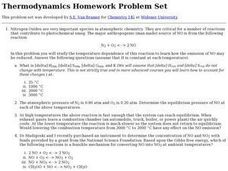 Thermodynamics homework help