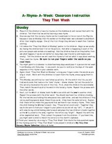 They That Wash Lesson Plan