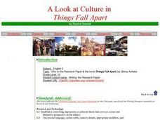 Things Fall Apart: Research, Writing & Presentation Project Activities & Project