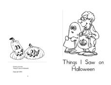 Things I Saw On Halloween Worksheet