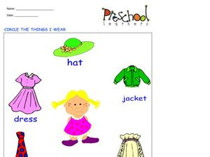 Things I Wear Worksheet