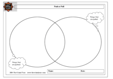 Things That are Pushed or Pulled Venn Diagram Worksheet