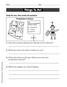 Things To Do! (Precipitation In Arizona) Worksheet