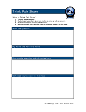 Worksheets Think Pair Share Worksheet think pair share 2nd 6th grade worksheet lesson planet worksheet