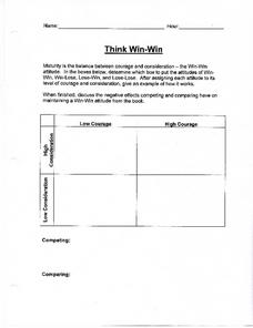 Think Win - Win Situations and Attitudes Lesson Plan