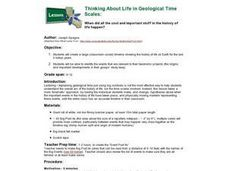 Thinking About Life in Geological Time Scales Lesson Plan
