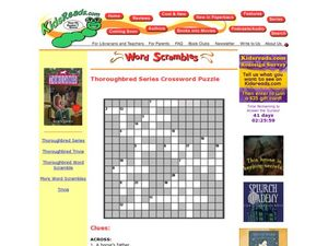 Thoroughbred Series Crossword Puzzle Lesson Plan