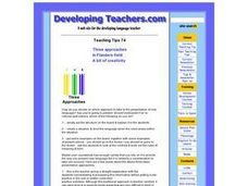 Three Approaches Lesson Plan