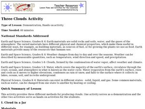 Three Clouds Activity Lesson Plan