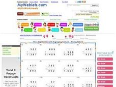 Three Digit Addition with Regrouping Worksheet
