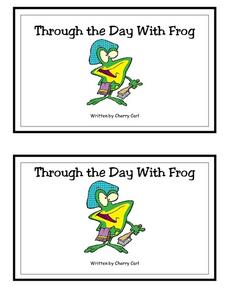 Through the Day With Frog- Full Color Copy Printables & Template