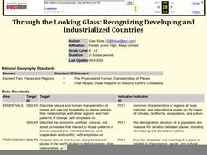 Through the Looking Glass: Recognizing Developing and Industrialized Countries Lesson Plan