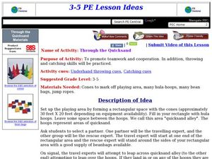 Through the Quicksand Lesson Plan