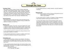 Through the Year Lesson Plan