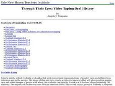 Through Their Eyes: Video Taping Oral History Lesson Plan