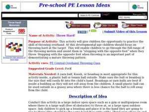 Throw Hard Lesson Plan