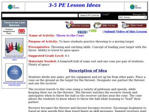 Throw to the Cone Lesson Plan