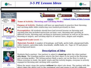 Throwing and Catching Medley Lesson Plan