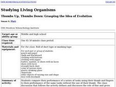 Thumbs Up, Thumbs Down: Grasping the Idea of Evolution Lesson Plan