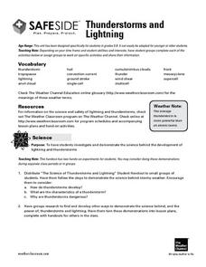 Thunderstorms and Lightning Lesson Plan