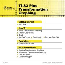 TI-83 Plus Transformation Graphing Lesson Plan
