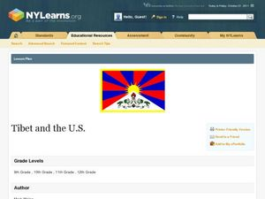 Tibet and the U.S. Lesson Plan