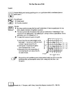 Tic-Tac-Toe On A Grid Lesson Plan