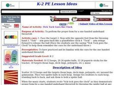 Tick-Tock Goes The Clock Lesson Plan