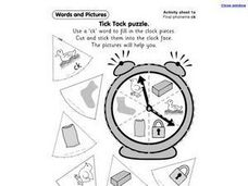 Tick Tock Puzzle Worksheet