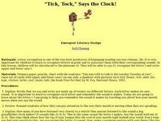 """Tick, Tock,"" Says the Clock! Lesson Plan"