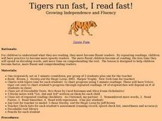 Tigers Run Fast, I Read Fast! Lesson Plan