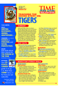 Tigers: Time for Kids Lesson Plan