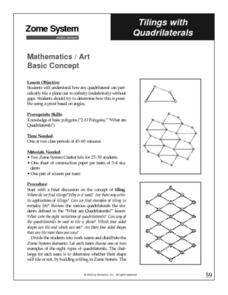 Tilings with Quadrilaterals Lesson Plan