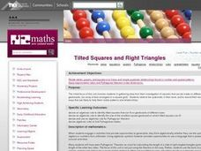 Tilted Squares and Right Triangles Lesson Plan