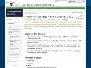 Timber Harvesting: A Civic Debate Lesson Plan
