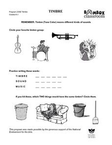 Timbre Worksheet